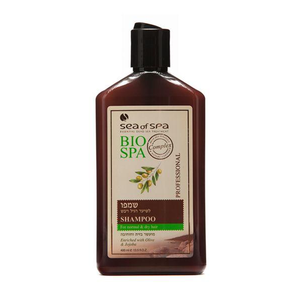 Szampon do włosów normalnych i suchych wzbogacony o dodatek z oliwy i jojoby. Szampon ten jest przeznaczony do włosów normalnych, suchych i matowych. Wyjątkowa formuła wzbogacona o naturalne i aktywne minerały z Morza Martwego, ekstraktu z oleju z oliwek, jojoby i naturalnych ziół. Dzięki temu formuła została tak opracowana, aby wzmacniać i leczyć zarówno skórę głowy, włosy oraz wzmocnić słabe korzenie.