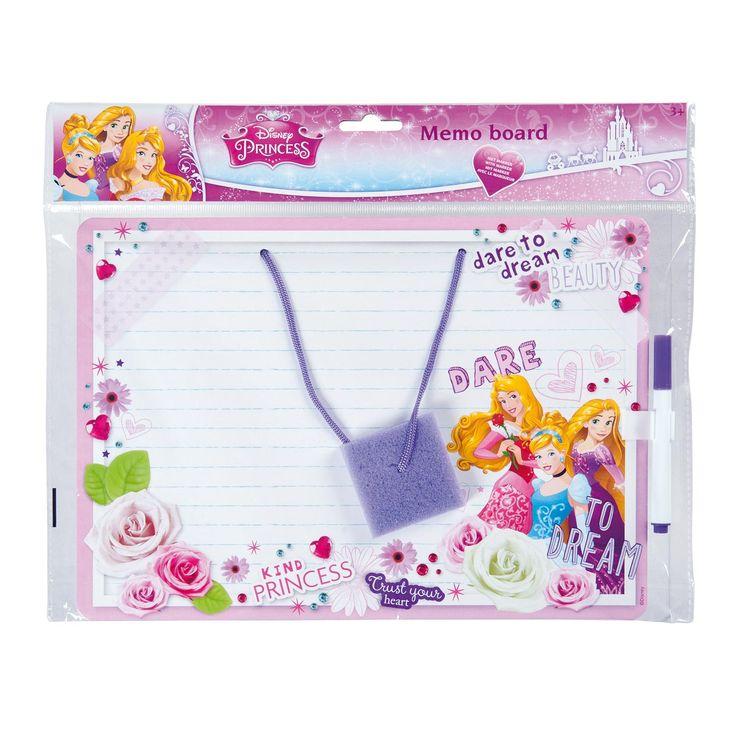Memobord met stift en inktwisser.Afmetingen: 29 x 20,5 cm. - Memobord Disney Prinses