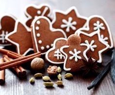 Рождественская выпечка, имбирные пряники