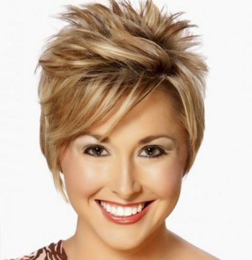 Short Spiky Haircuts For Thick Hair with Round Faces