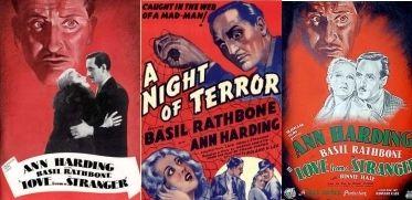 Ann Harding and Basil Rathbone in Love from a Stranger