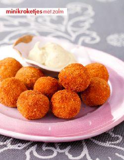 Minikroketjes met zalm - Voorgerechten - Recepten - Food - Home - ELLE België