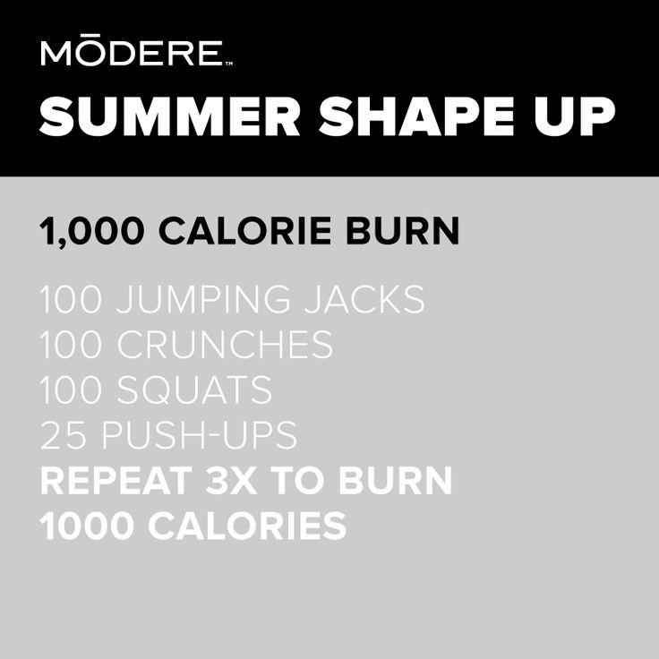 1,000 Calorie Burn #Modere #Summer #Workout #ShapeUp