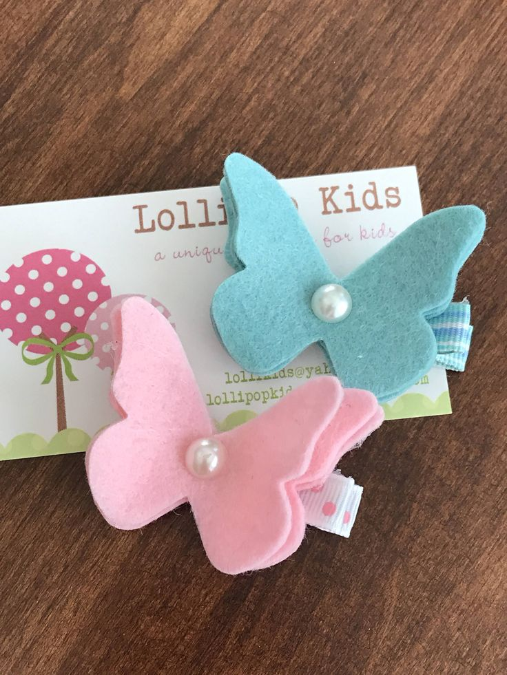 Toddler Hair Clip Baby Hair Clip Infant Hair Clip Kids Hair Clip Wool Felt Flower Hair Clip Hair Bow Felt Hair Accessories Set This listing has two hair clips in one butterfly and one flower. If you want to choose your own colors, please choose from the chart (see the last