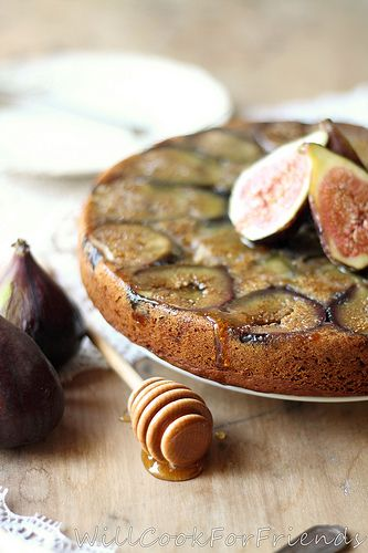 Will Cook For Friends: Orange & Cardamom Spiced / Honey'd Fig / Olive Oil Tea Cake - the perfect mouthful