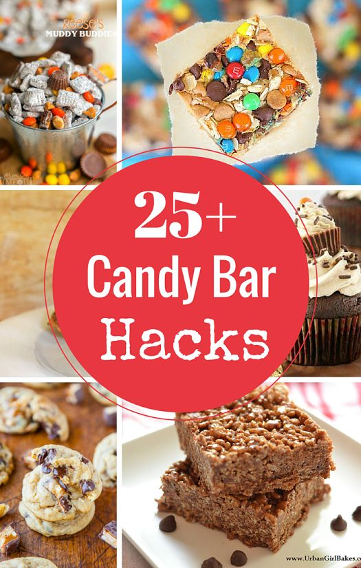 Candy Bars have been hacked! A Roundup of 25+ recipe sources using candy bars as the feature ingredient! Please note: Not all of these photos belong to me. Please click the image to go t...