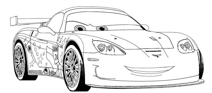 jeff corvette coloring page
