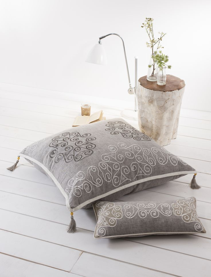 Floor Cushions from the La Tene collection | Aztaro cushions