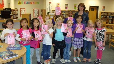 The Katie Woo book club at Liberty Elementary School in Franklin, Tennessee.