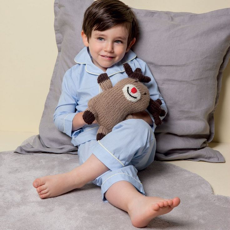 Peluche renne à tricoter pour son enfant, diy tricot facile  Reindeer puppy for child, easy diy knitting