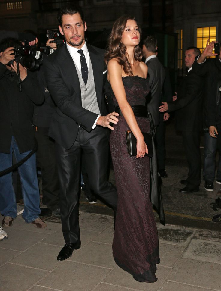 2012:Both David and Sarah Ann wore Dolce & Gabbana, because Gandy has long been the face of D&G.