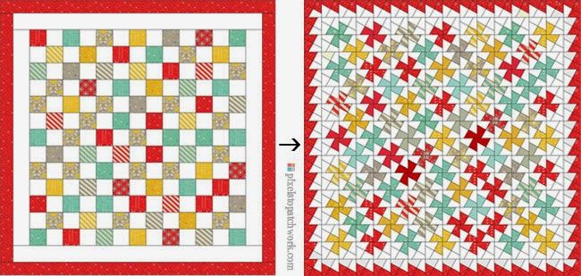 from Pixels to Patchwork: Baby Jane Twister Quilt
