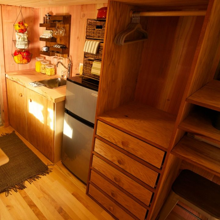 No Paint Needed To Add Color To This #TinyHouse!
