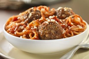 Fresh Grated Parmesan Spaghetti & Meatballs recipe