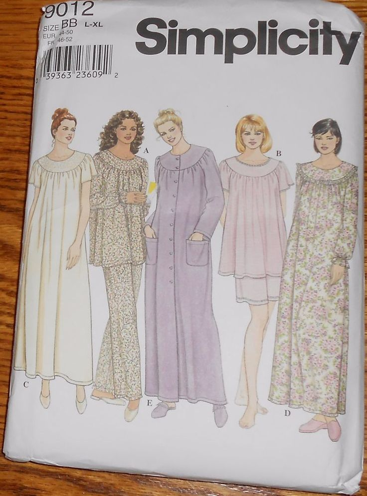 Simplicity Sewing Pattern 9012 Women S Pajamas Nightgown