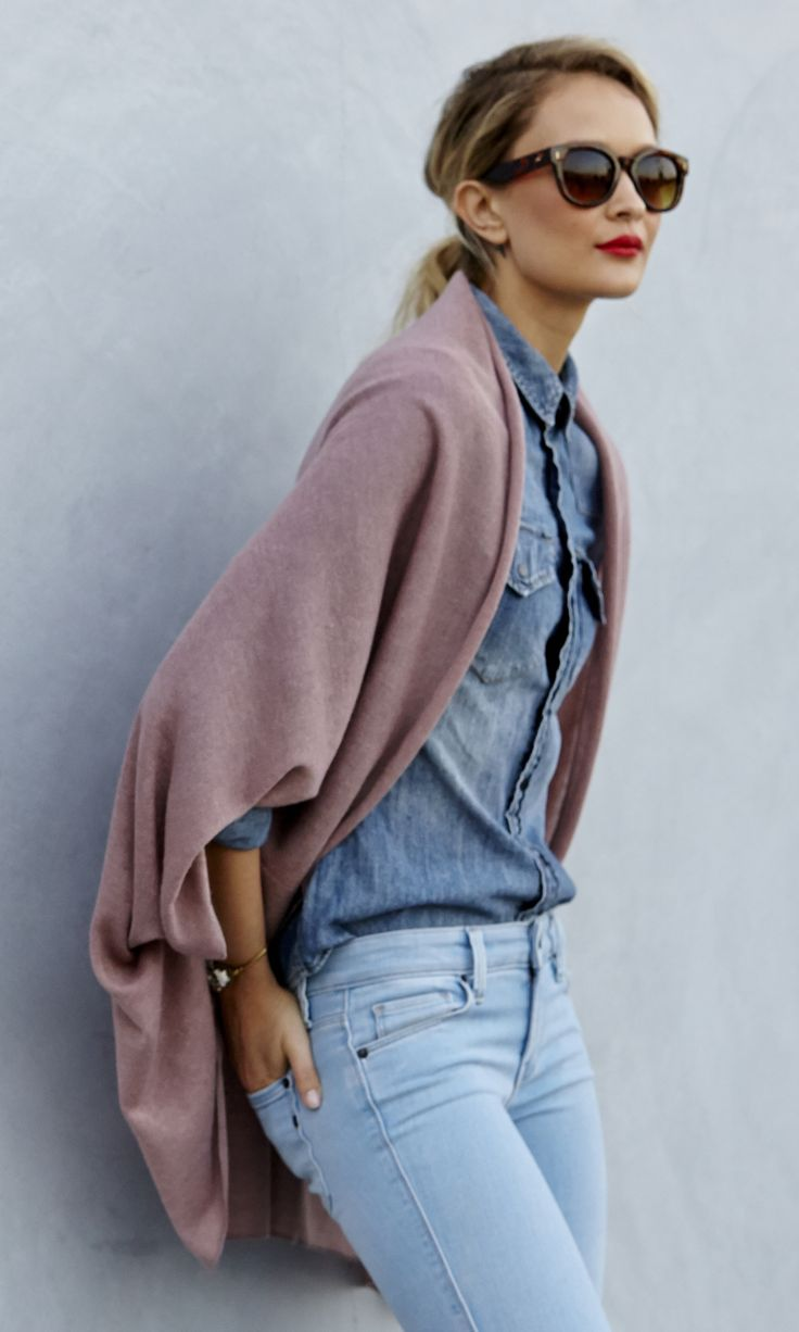 Blush cocoon wrap kimono by Sole Society