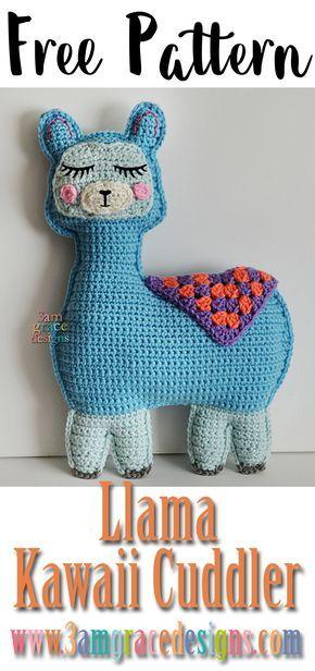 free llama amigurumi crochet pattern rag doll ragdoll
