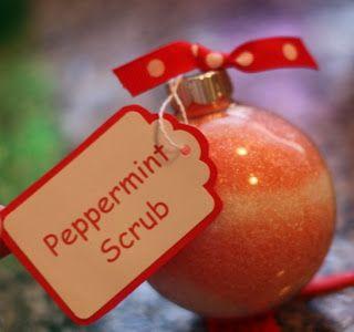 Peppermint Bath Salt Ornament