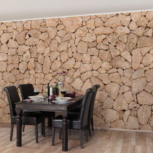 Ausgefallene Tapeten F?r Zuhause : Vliestapete – Apulia Stone Wall – Alte #Steinmauer aus gro?en