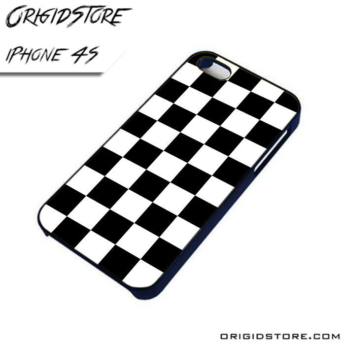Black and White Start Chess Board AL iPhone 4/4S case