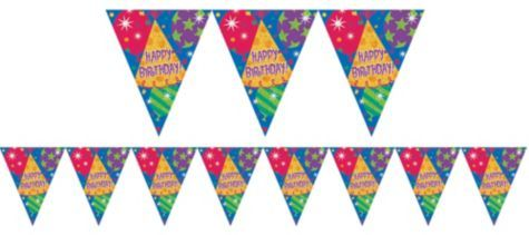 Happy Birthday Pennant Banner 12ft - Birthday Banners - Birthday Decorations - Birthday Party Supplies - Categories - Party City
