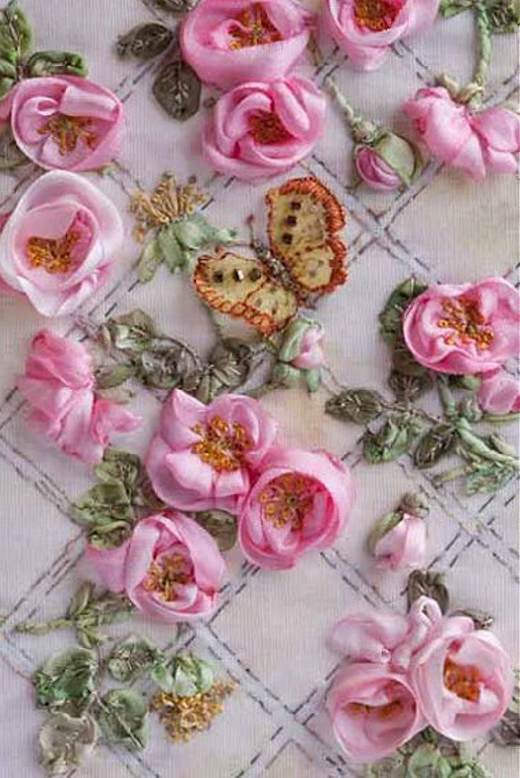 I Ribbonwork    Di Van Niekerk39s Silk Ribbon Embroidery