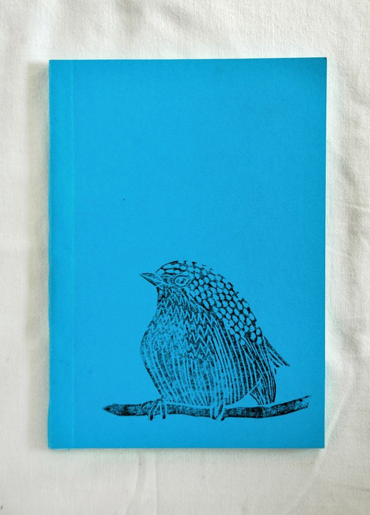Bird blue notebook by Fish without a Bicycle