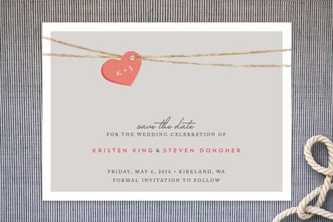 Tangled Love Save the Date Cards by Jennifer Postorino at minted.com $1.58 each