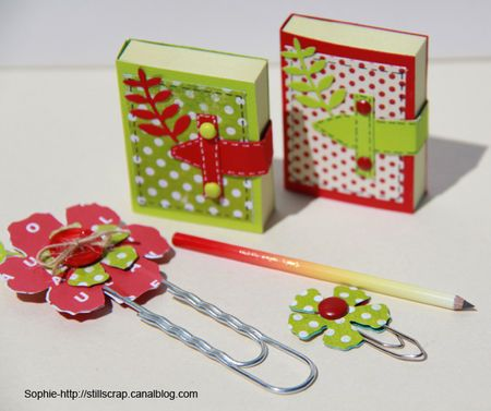 mini post it book with tutorial - bjl