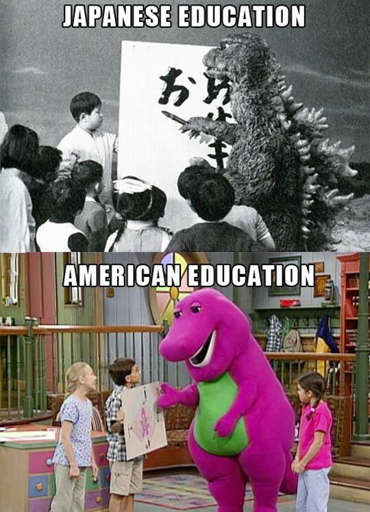 lol so true #barney #godzilla