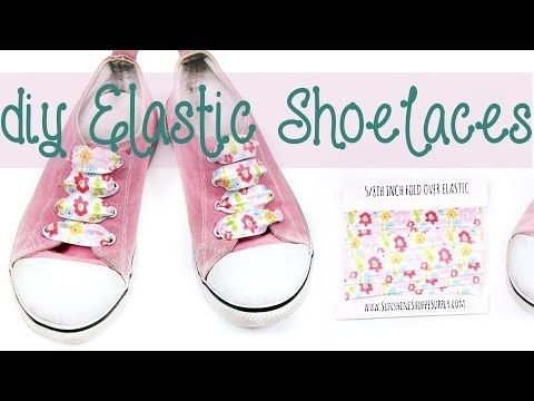 How to make your own DIY elastic shoelaces (no tie shoe laces in no time!) - YouTube