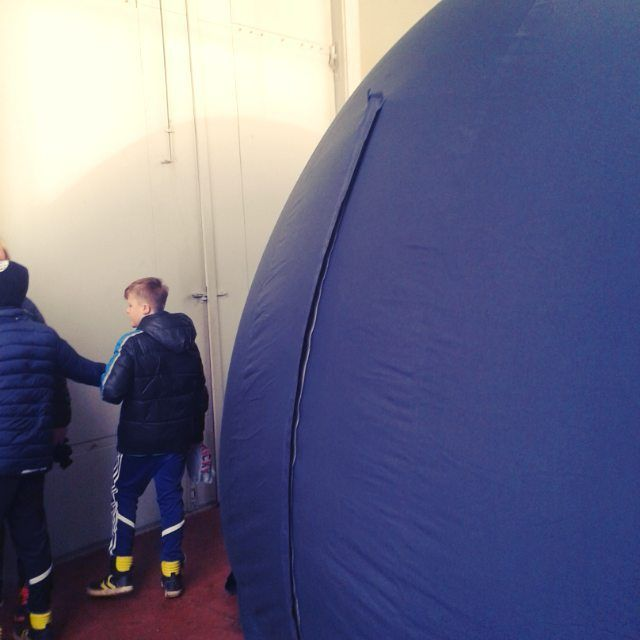 Så har Brorfelde også fået sig et planetarium