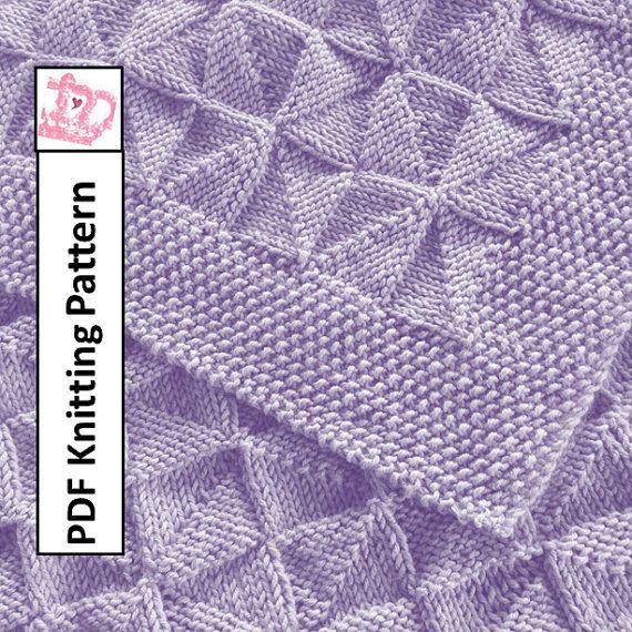 Baby Blanket Knitting Pattern Circular Needles : PDF Knitting Pattern - Windmills and Pinwheels reversible ...