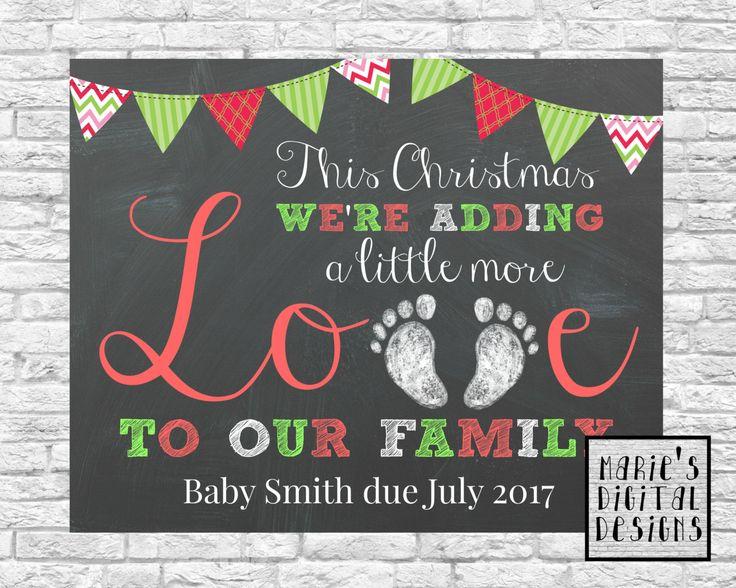 PRINTABLE Baby / Pregnancy Announcement by MariesDigitalDesigns