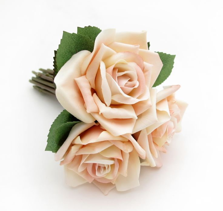 A tiny size posy of blush Classic Roses. Find your perfect wedding flowers at http://www.loveflowers.com.au