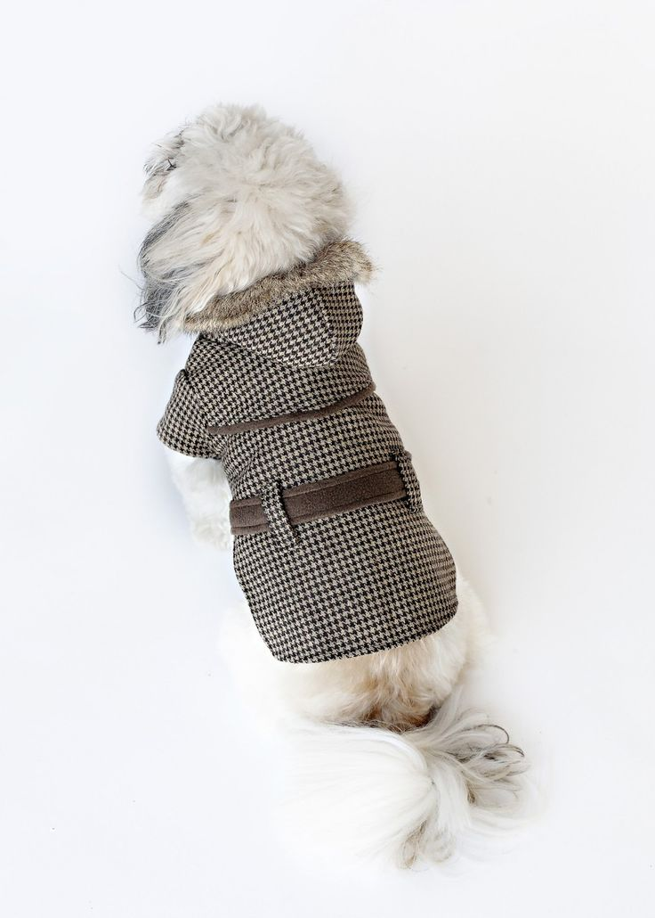DESIGNER DOG COAT THE PRESTON HOUNDSTOOTH