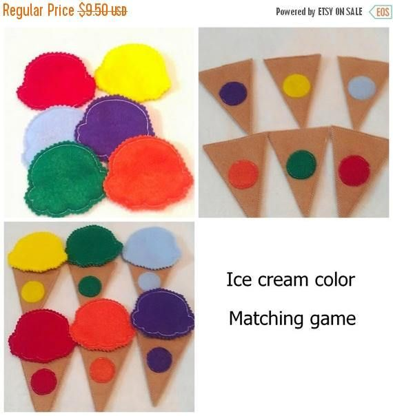 SALE Color matching game  toddler learning activity for busy