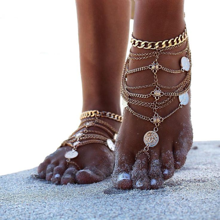 barefoot sandals beach foot jewelry ankle bracelet cheville enkelbandje boho anklet bohemian anklets for women tobillera