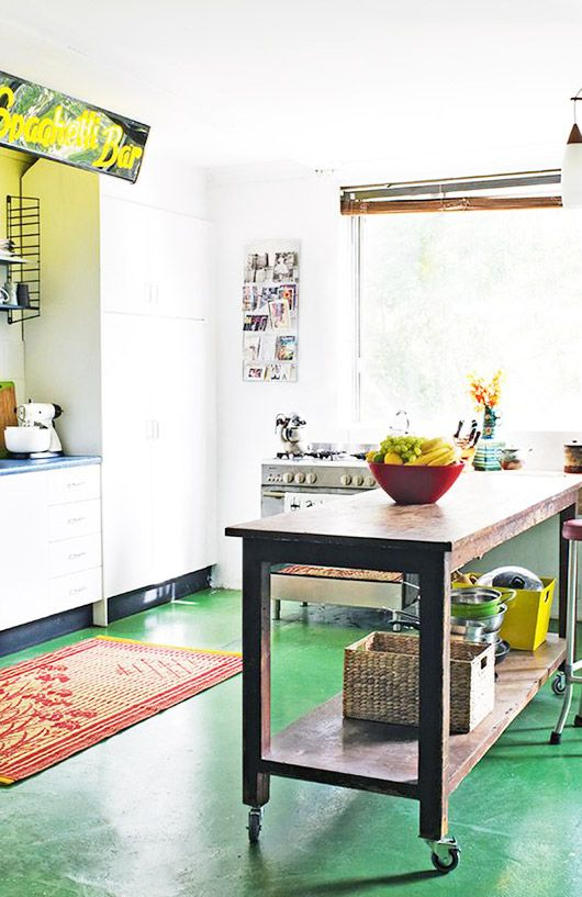 Retro on Regent - This super cool home in Sydney belongs to Patti and David Southern, owners of mid-century & industrial collectables store Retro on Regent. Home, Home Kitchens, Kitchen Remodel, Kitchen Design, Kitchen Flooring, Kitchen Decor, Interior, New Kitchen, Kitchen Interior