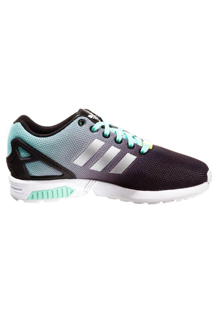 Woman Adidas Originals ZX Flux shoes - Mint grey black green HOT SALE! HOT  PRICE