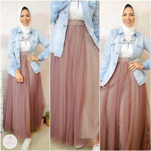 chiffon maxi skirt hijab look- Summer hijab fashion for teens http://www.justtrendygirls.com/summer-hijab-fashion-for-teens/