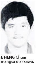 KIRA-KIRA jam 8 malam pada 4 September 1995, seorang pemuda, E Heng Chuan, 29, berjalan menuju ke bangsal berhampiran rumahnya di pekan Tenang Stesen, dekat Segamat, Johor untuk menutup suis generator air kolam..baca selanjutnya....