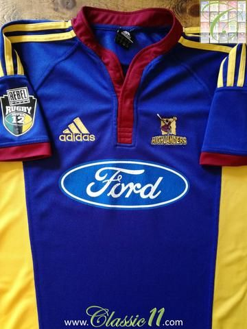 Official Adidas Highlanders home rugby shirt from the 2005/2006 seasons.