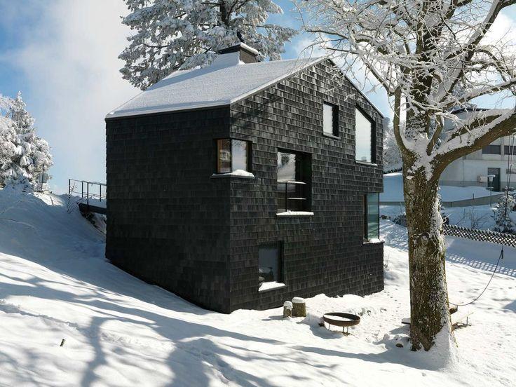 """""""schiefer""""    best architects architektur award // Philip Lutz ZT GmbH / Schwarzes Fünfeck mit sechs Ebenen / best architects 13 / Wohnungsbau"""