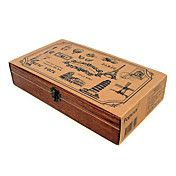 Eiffel Tower Pattern Wooden stamp with Box – EUR € 40.19