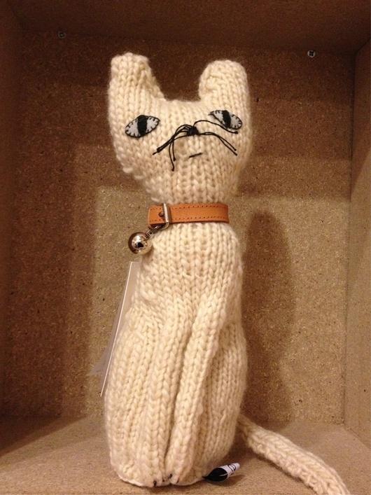 Peluche chat tricotée main by Boucle d'Or on Shopigram