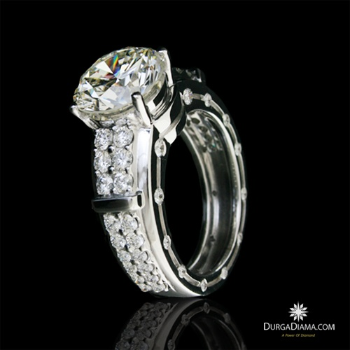 Durga Luminary Round Brilliants 5.60 ct Ring | Rings | DurgaDiama.com