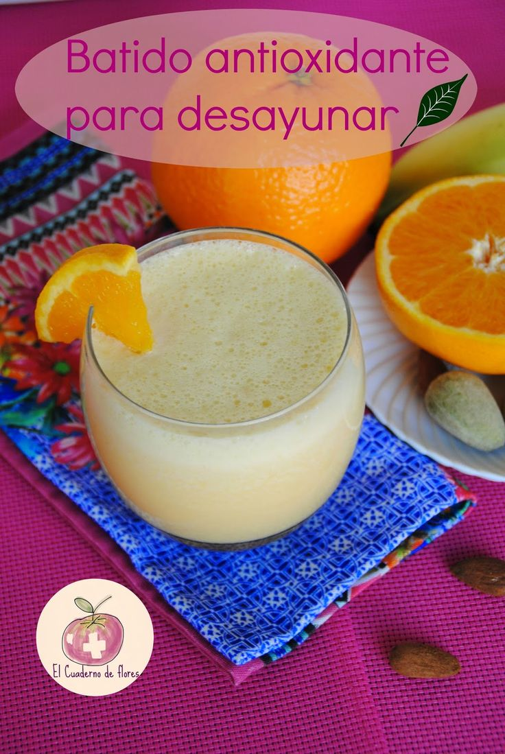 batido antioxidante, smoothie
