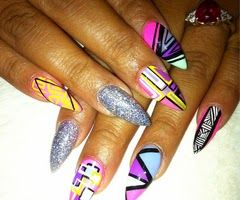 Stiletto Nail Art Designs