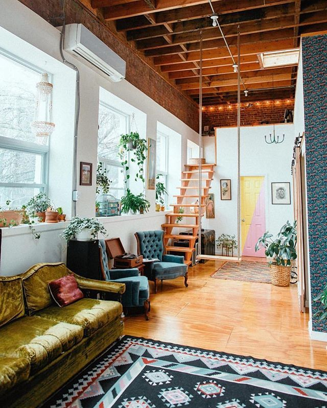 The Funky Loft: Visit This Bright Bohemian Airbnb in NYC!# ...